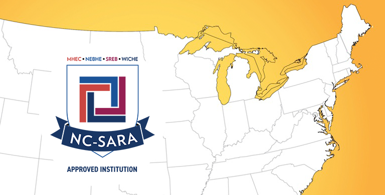 Image of U.S. map with SARA logo on top of it