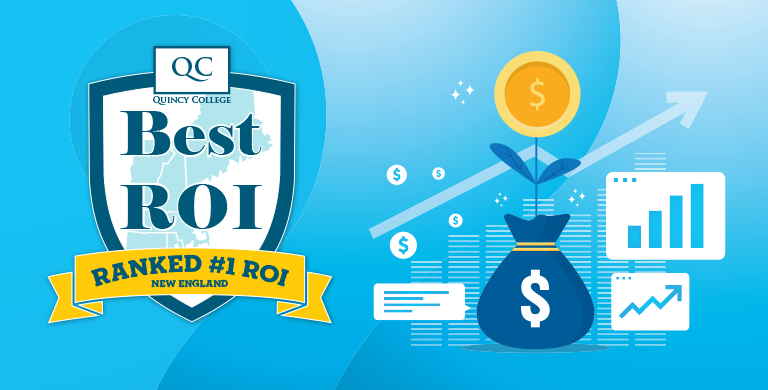 Quincy College Best ROI, Ranked #1 ROI in New England