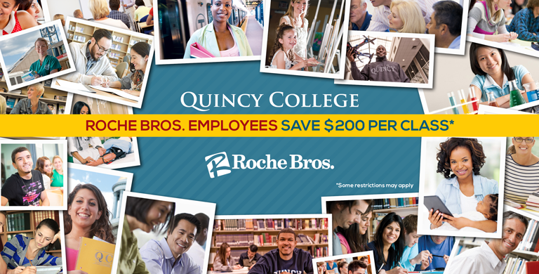 Roche Bros. and Quincy College are proud to partner to bring access to educational and professional development opportunities to Roche Bros. employees.