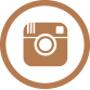 Instagram symbol. Brown camera in a brown circle.