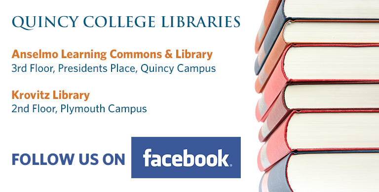 Quincy College Libraries | Follow Us on Facebook