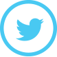 Twitter symbol. Blue bird in a blue circle.