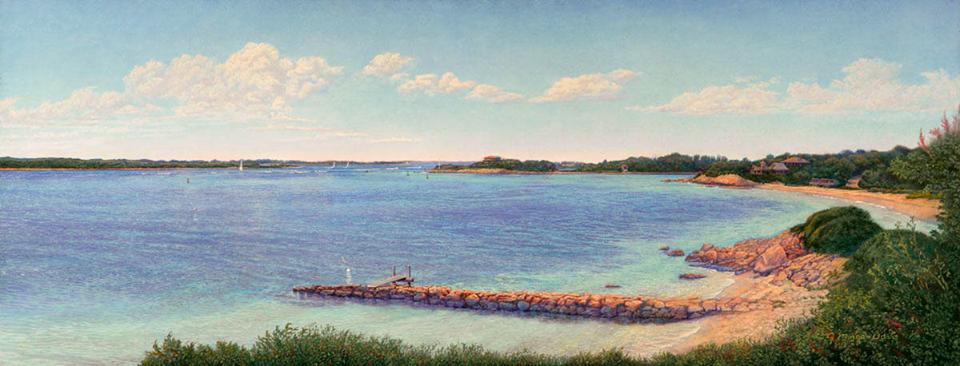Beach Scene Ocean Bluff
