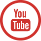 Youtube symbol. Youtube red text in a red circle.